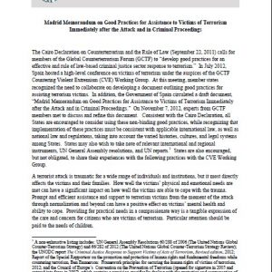 Madrid Memorandum on Good Practices for Assistance to Victims of Terrorism